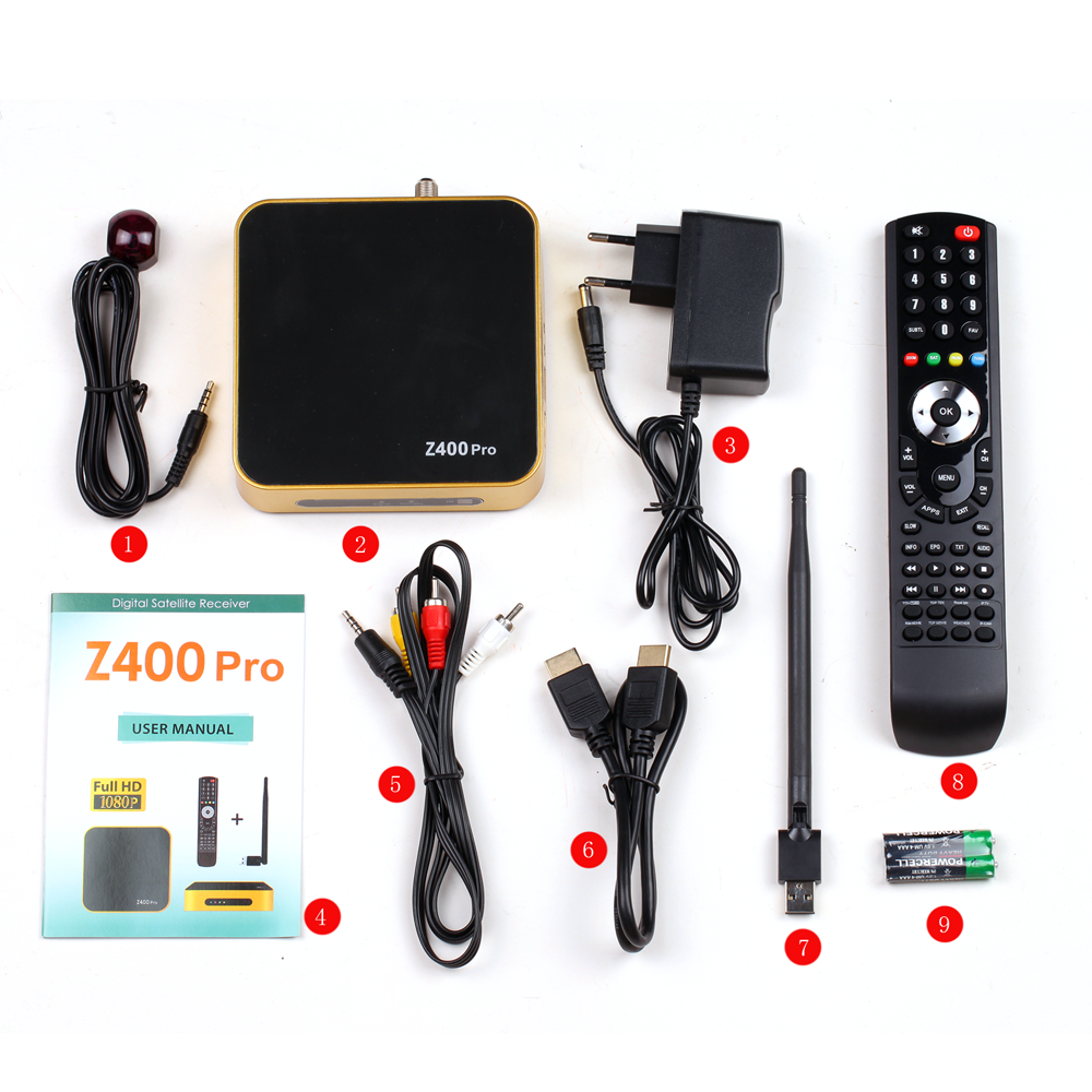 Tiger Satellite Receiver Z400 Pro DVB S2 Set Top Box