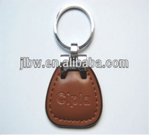 red leather kaychain/keyring for car dealer promotion gift logo print