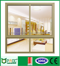 Hot selling aluminium cheap aluminum glass panel sliding shed window