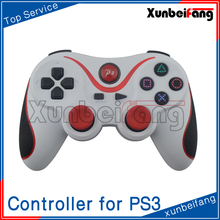 Wireless Gamepad Joystick Controller for PS3 White With Red
