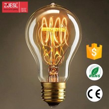 Hot sale A19 110-240V 60w/40W decorative spiral edison bulb High quality vintage filament edison light
