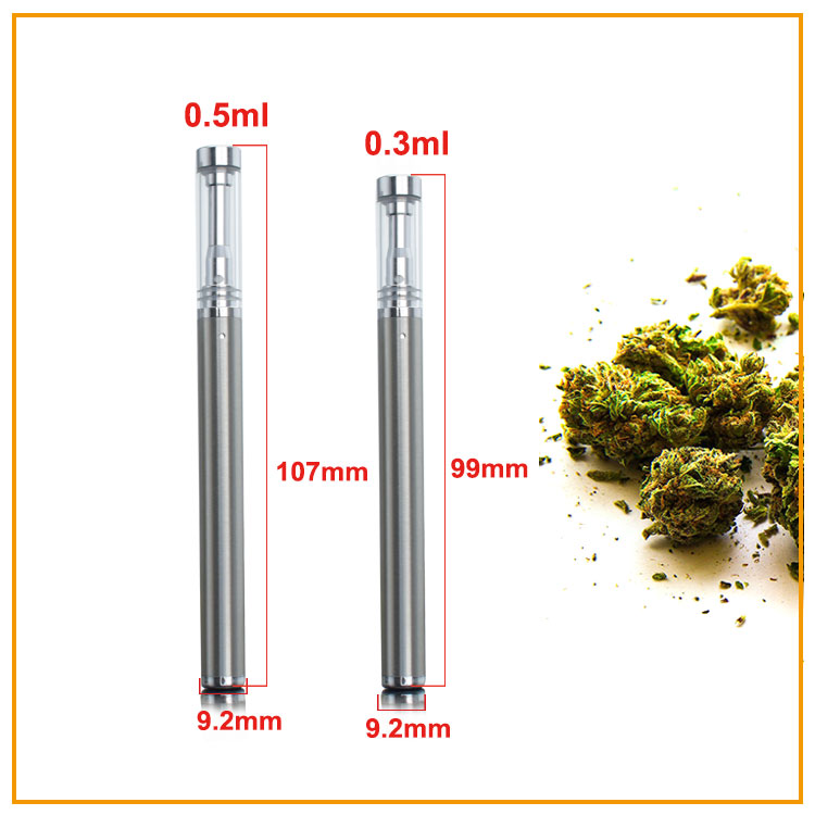 510 Premium 0.3ml disposable vape pen Pyrex glass atomizer for cbd thick oil