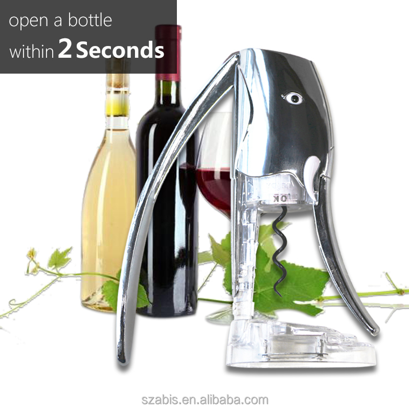 Wine opener corkscrew with foil cutter gift 2sec quick bottle opener elephant shape
