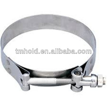 stainless steel Manufacturing T bolt pipe clip/compressor hose clamp