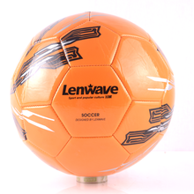 Lenwave branded custom print cheap football in bulk pvc soccer ball
