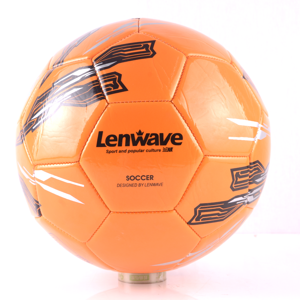 Lenwave branded custom print cheap soccer balls in bulk pvc soccer ball