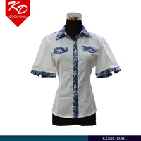 2016 new office ladies fashion blouse top formal white shirts for women