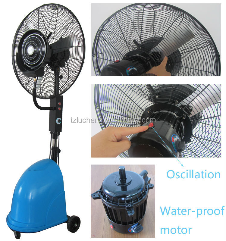Outdoor Water Cooling Fans : Quot water proof outdoor fan cooling mist