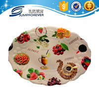 Hot sale and oval wavy-edge plastic melon and fruit tray