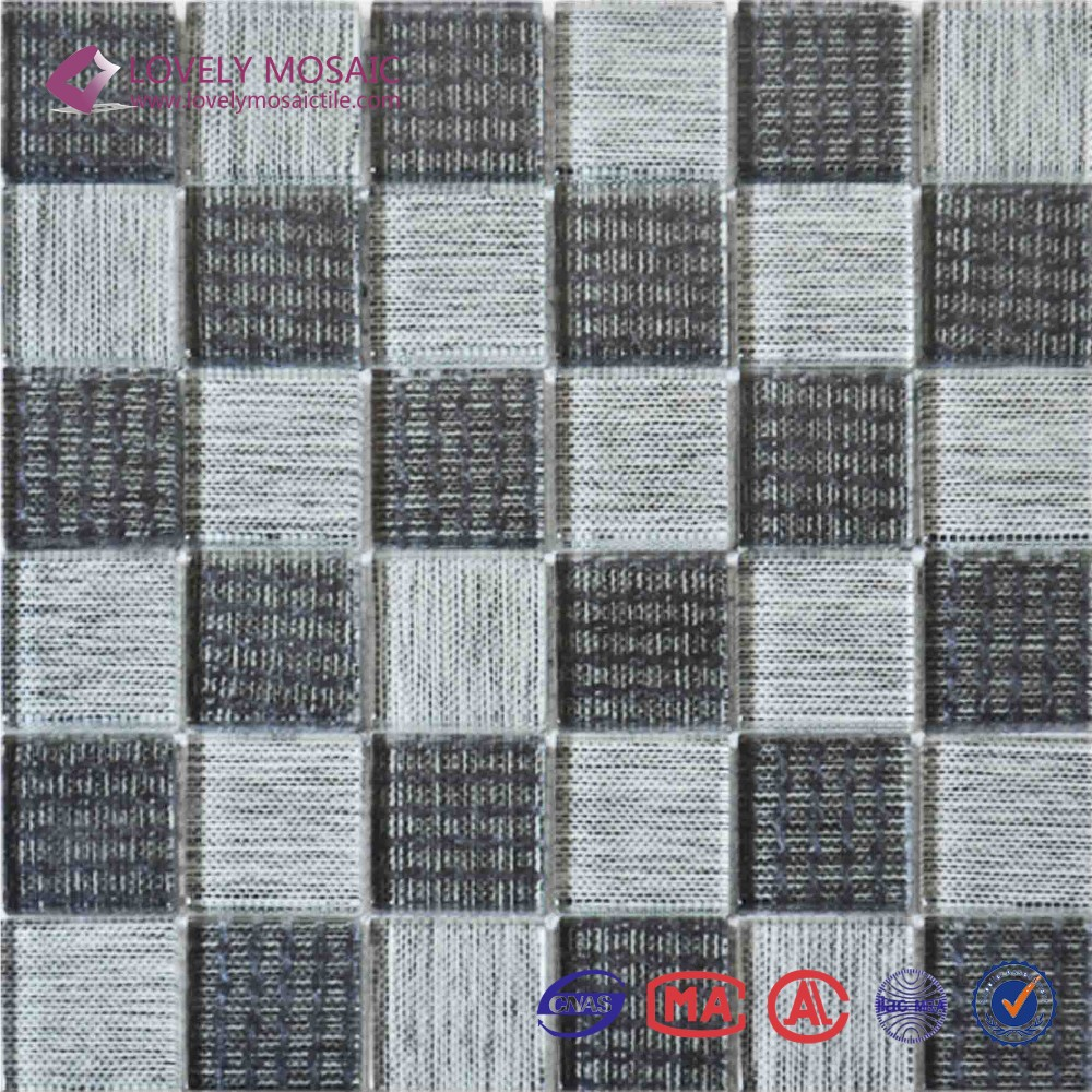 Cheap popular decorative crystal glass mosaic wall panel
