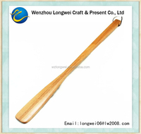 long handled wooden shoe horn/long shoehorn