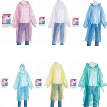 Manufacturing Fashion cheap adult waterproof fabric Plastic Disposable pe raincoat/rain coats with sleeve