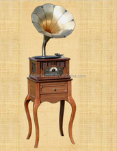 Quality guaranteed old wooden decorative gramophone record player for home