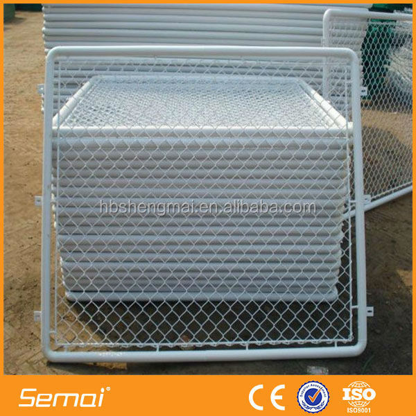 hot sale PVC coated galvanized square post chain link fence
