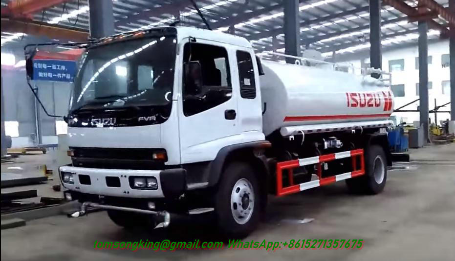 FVR Water Tank Truck with water Pump 6HK1-TCL 240HP Engine