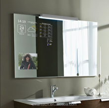 Wifi Touch Screen Magic Smart Mirror with android ,bathroom advertising mirror screen for Hotel