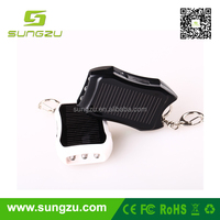 high quality factory parice wholesale CE FCC ROSH portable mini keyring solar charger for mobile phone