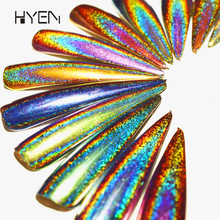 Nail Art Design Factory Supply 12 Colors Bulk Holographc Chameleon Effect Chrome Nail Pigment Powder