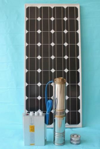 4'' DC stainless steel solar pump with plastic impeller