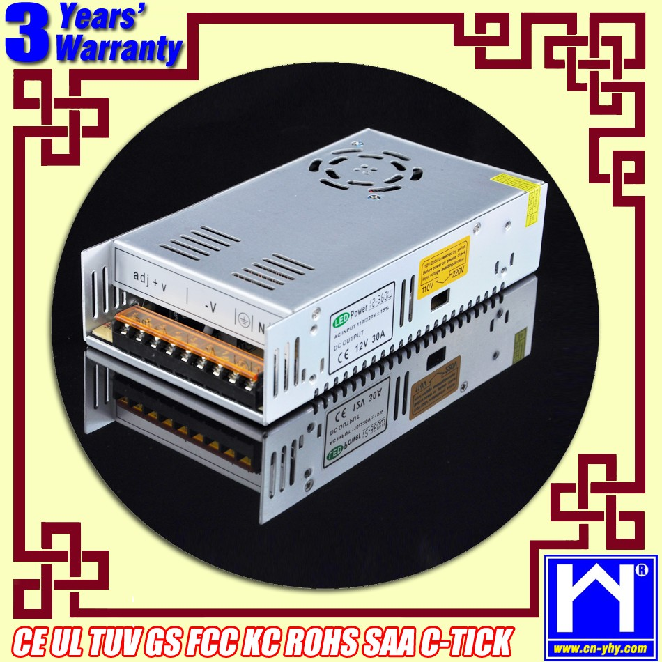 360W 12V 30A switch power/switching power/dc regulated power supply