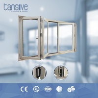 Tansive construction double glazed Aluminum profile customized folding doors and windows factories in foshan china