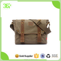 Classical Design Wholesale Retro Casual Washed Canvas Shoulder Bag for Men