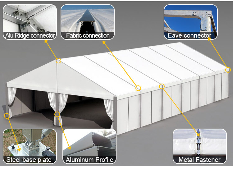 Portable Exhibition Tents : Aluminum portable gazebo marquee tent for