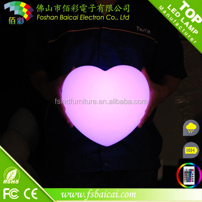 Rechargeable Led decoration Light / Heart Shaped Led Lights