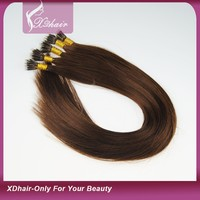 Wholesale Cheap High Quality Grade 6a Silky Straight Indian Remy Human Hair Nano Ring Hair Extension