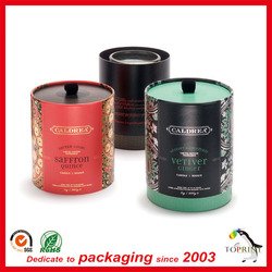 Luxury plastic candle cup holder paper tube packaging candle gift box cardboard containers