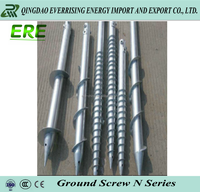 Ground post anchor electric ground screw driver for solar energy