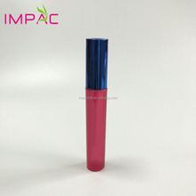 Empty round fancy pink 4.5ml plastic lip gloss tubes packaging