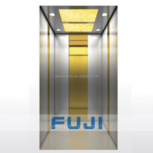 FUJI new design titanium mirror cabin villa elevator small home lift for sale