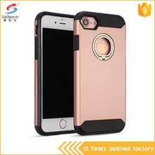 Factory selling customized mobile phone case for iphone 7 with ring