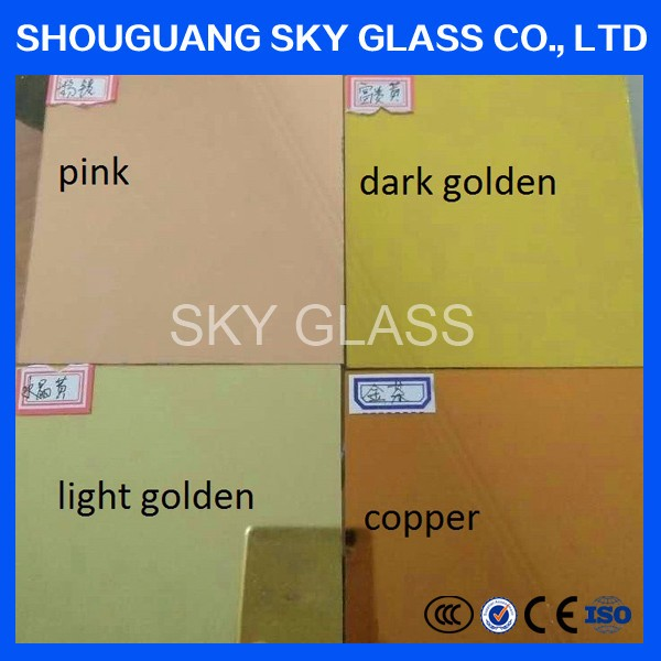 4mm 5mm 6mm Bronze/Pink/ Glod/ Green/Blue/ Grey Colored Tinted Silver Mirror For Decoration
