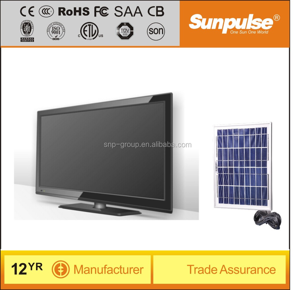 Portable DC12V Solar Power LED TV 24 inch