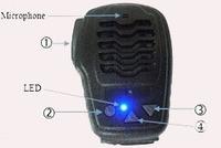 2 way radio shoulder speaker mic/microphone for motorola, kenwood, i-com, sepura walkie-talkie radio