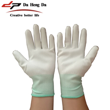 white polyester fiber anti-static <strong>safety</strong> working gloves
