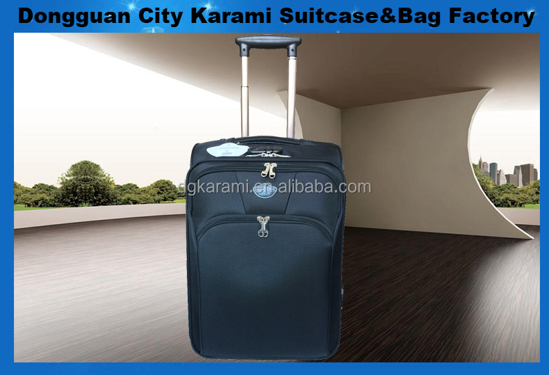 Best selling cheap pomotional travel bag soft trolley luggage from Factory