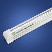 no need for extra fixture to hang it on integrated t8 V shape led tube lamp 150CM AC100-240V with 5300 lumen 2600-6500K