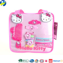 FJ Brand wholesale cartoon pink hairbands Hello Kitty hairgrips kids hair accessories set