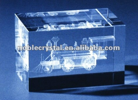 3D Laser Engraved Old Train Traffic Transportation Crystal Gifts Souvenirs