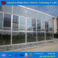 Glass Multi Span Agricultureal Greenhouse Type