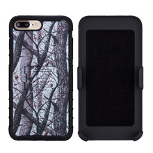 Wholesales creative Belt clip TPU PC smart phone back case for iphone 7 plus cover for apple case