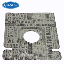 Square Aluminium Foil Gas Stove Mat With One Hole Liner