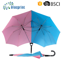 Lover Couple Twin Dual Colors Straight Gifts Umbrella