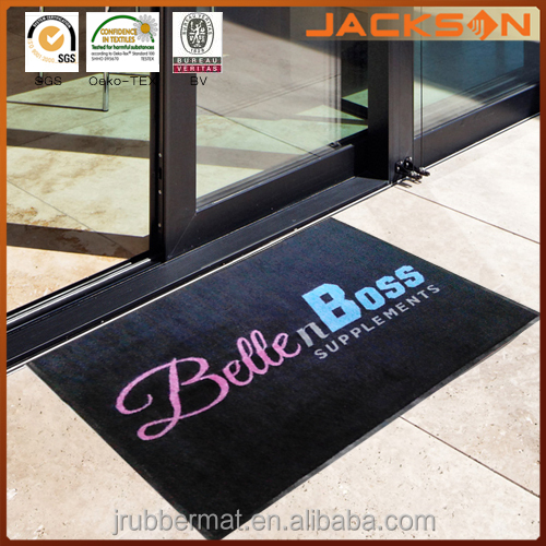 Printed Commercial Carpet Outdoor Rubber Backed