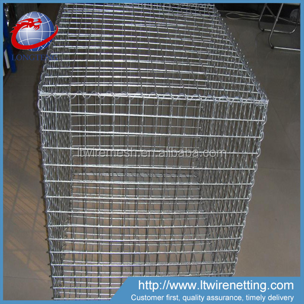 Hot sale 1x2x1m welded wire mesh / galvanized gabion stone cage / gabion boxes for sale