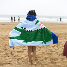 Custom Designs Volour Finish Cotton Beach Towel Poncho