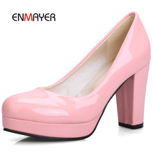 party platform closed toe spuare heel pumps summer women shoes